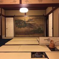 茶室「芳土庵」 日本画家 千住博氏制作による襖絵