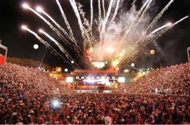 Arena onde realizam os rodeios e os Shows