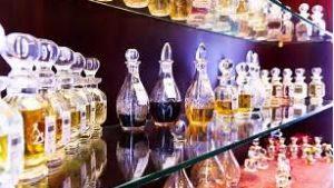 Exposição da loja de perfumaria