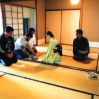 Visita à Sala de Chá Hakuei-an pelo Seinen Bunkyo para uma Introdução ao Caminho do Chá