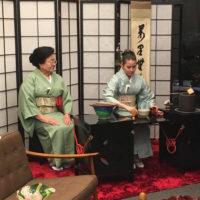 Cerimônia do Chá na exposição de joias no Pavilhão Japonês do Parque de Ibirapuera e no Shopping Cidade Jardim