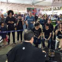 「ブラジリア日本祭り」において茶道を紹介