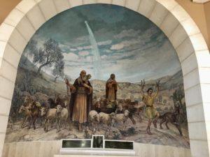 Igreja onde os pastores foram avisados pelos anjos sobre nascimento de Jesus em Belém.