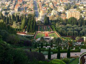 Jardins Bahá'í de Haifa, em Israel.