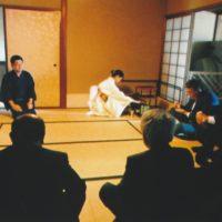 O Conselho Superior do Bunkyo visita a Sala de Chá Hakuei-an