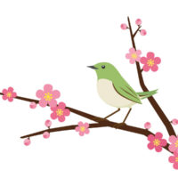 7. Ume ni uguisu – Rouxinol na ameixeira florida